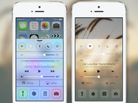 iOS 7 Control Center Redesign