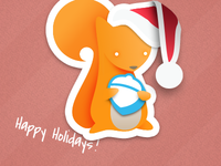 Pokki Squirrel Christmas Wallpaper