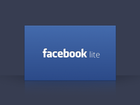 Facebook lite splash pane