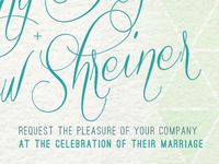 Wedding invitation lettering