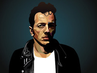 Joe Strummer Illustration WIP