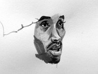 Kobe India Ink Illustration