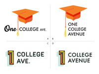 One College Avenue Logo Mockups A