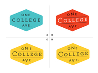 One College Avenue Logo Mockups C