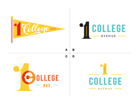 One College Avenue Logo Mockups D