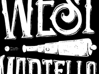 West Martello Key West: Custom Lettering & Illustration