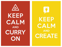 keep calm and curry on / keepcalm and create