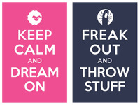 Keep Calm And Dream On / freak out and throw sruff