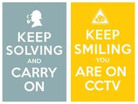 keep solving and carry on / keep smiling you are on cctv