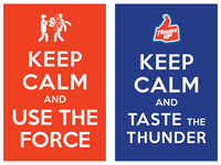 keep calm and use the force / keep calm and taste the thunder
