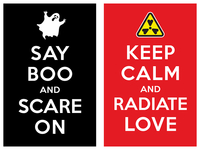 Keep Calm And Radiate Love Say Boo And Scare om