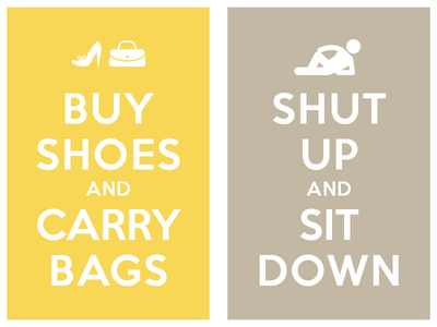 Buy Shoes And Carry Bags Shut Uo And Sit Down