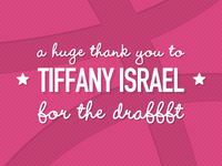Thanks Tiffany Israel