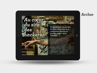 iPad theme two / piste de travail