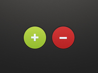 Plus & Minus Buttons (PSD)