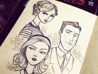 Mad Men Moleskine Sketch
