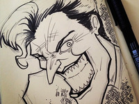 The Joker -- Moleskine sketch