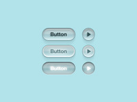Plastic buttons on a blue bg