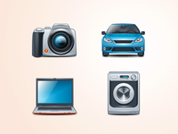 Icons for an electronic online shop