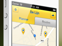 The redesign of the De Lijn iPhone app V2