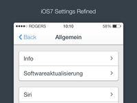 iOS7 - Settings (Refined)