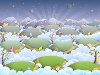 "800x600 Background ""Dreamland"" for Happy Builder 2"