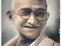 Gandhi Painting for Book Cover