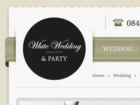 Wedding Ribbon Navigation