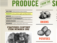 Old circular inspired produce website comp
