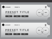 Mixtable: Preset Selectors
