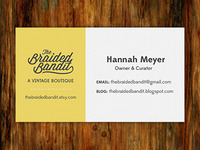 The Braided Bandit Business Card - Front