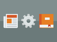 News, Projects, Blog icons