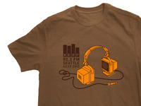 KEXP Computer Headphone T-Shirt