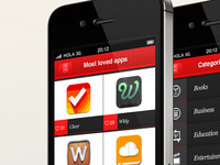 Overlapps iPhone app - 'Most loved apps'