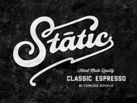 Static Coffee Lettering