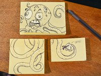 Post-it Note Alien