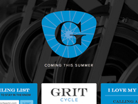 GRIT Cycle Splash Page