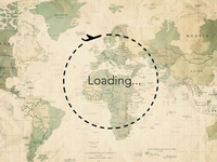 Loading - travel around the world.