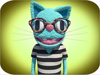 Me as a cat muppet