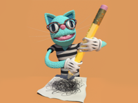 Cat Muppet Artist