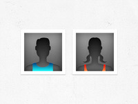 Male & Female Default Avatars for a new Sports App