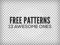 13Awesome Free Patterns (PNG+.PAT)