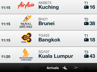 Changi Flights Details