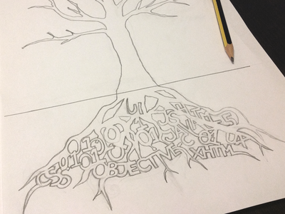 Sketch for a tee - Rooted in knowledge part I