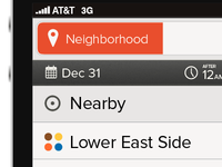 Mobile App: Neighborhood Selection