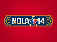 Nola Wordmark 2014 NBA All-Star Game