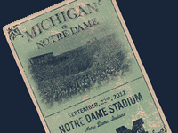 Michigan v ND Ticket