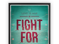 Love is war poster
