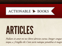 Actionable Books Masthead