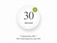 "30% discount - ""Luxury"" Magento Theme"